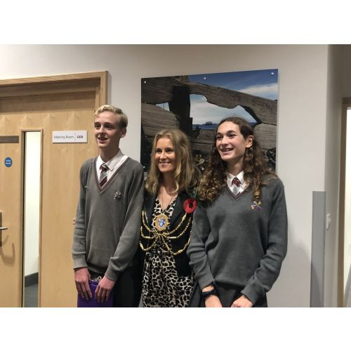 Blatch Students Read Poem for Brighton & Hove Mayor